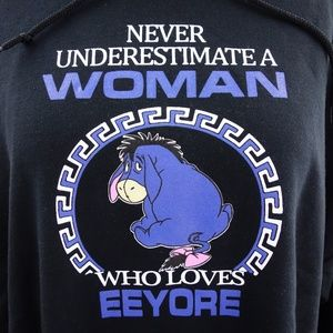 Gildan Eeyore Graphic Black Hoodie Sweatshirt